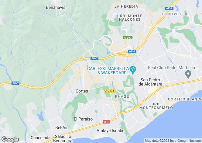 Map for Andalucia, Malaga, Benahavis