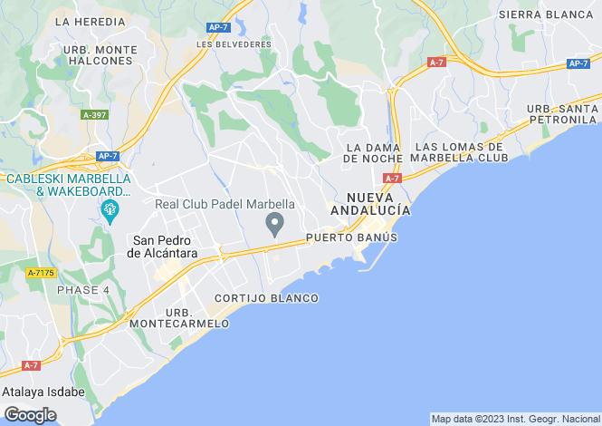 Map for Nueva Andalucia, Marbella, Malaga, Spain