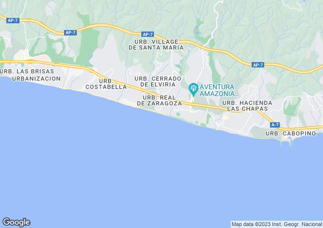 Map for Andalucia, Malaga, Las Chapas