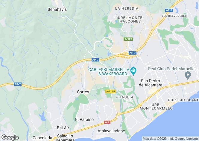 Map for Andalusia, Malaga, Benahavis