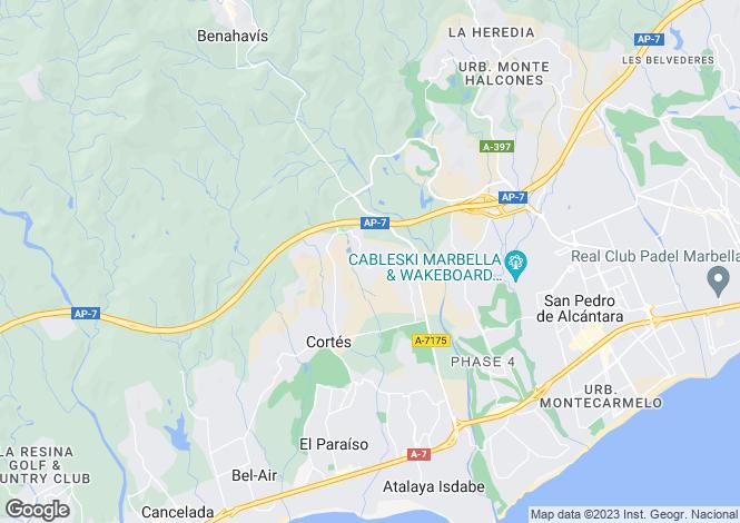 Map for Capanes Sur, Benahavis, Malaga