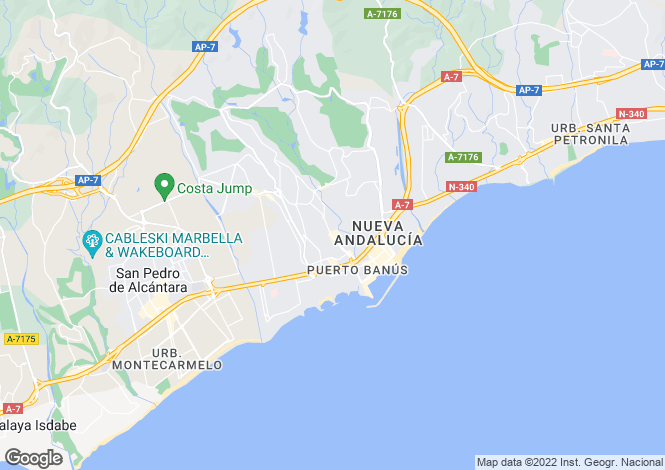 Map for Elviria, Marbella East, Malaga, Spain