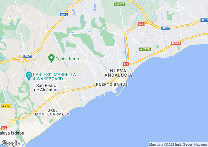 Map for Elviria, Malaga (Costa del Sol)