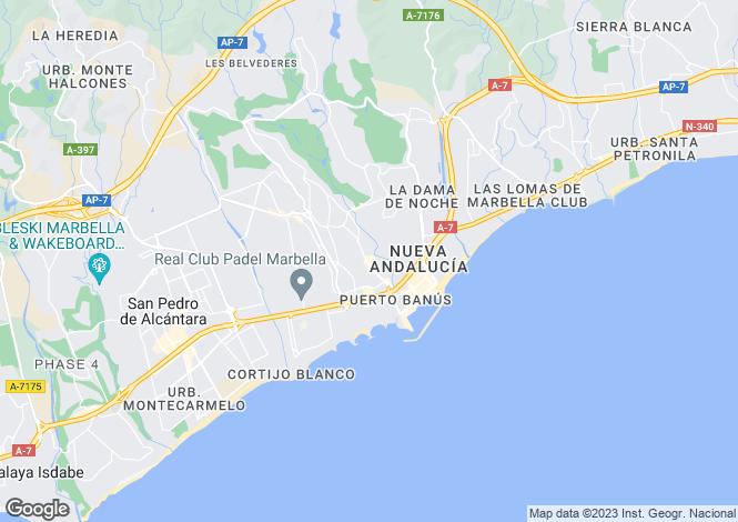 Map for Andalusia, Malaga, Elviria (Marbella)