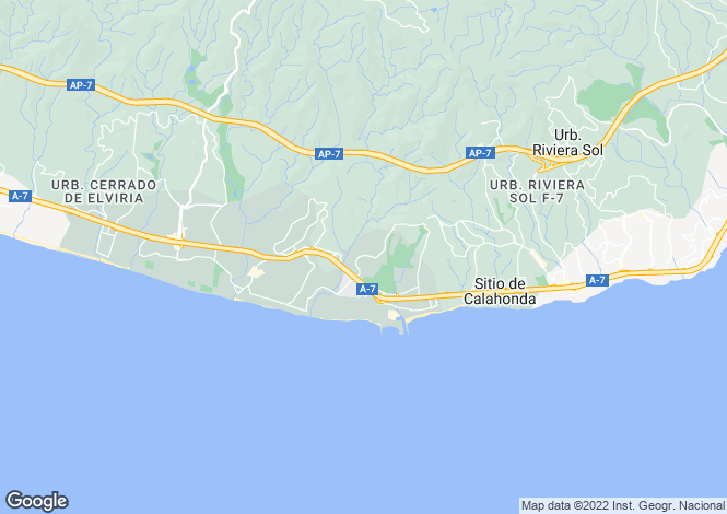 Map for Andalucia, Malaga
