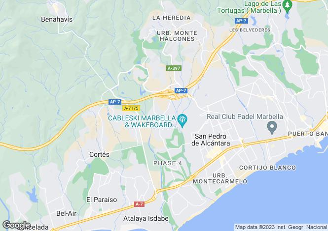 Map for San Pedro, Marbella, Spain