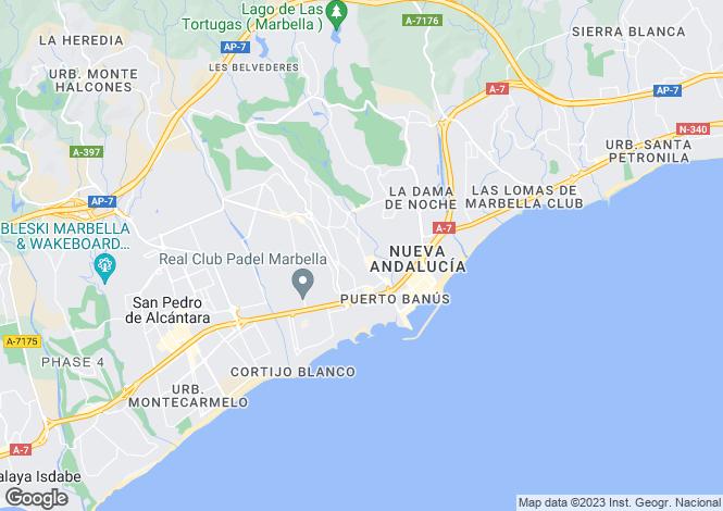 Map for Andalucia, Malaga, Elviria (Marbella)