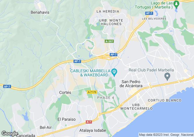 Map for Guadalmina, Marbella-Estepona, Spain