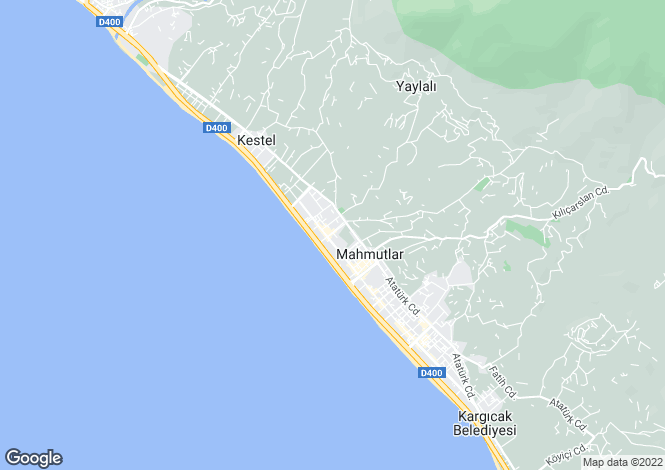 Map for Mahmutlar, Alanya, Antalya