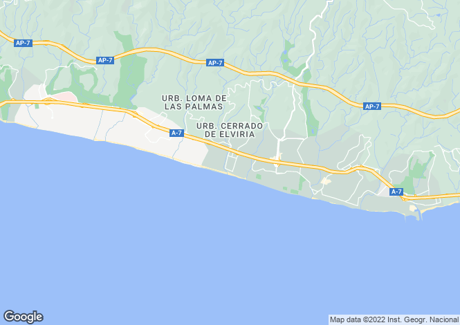 Map for Elviria, Marbella-Estepona, Spain