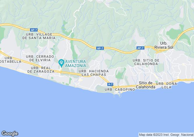 Map for Hacienda las Chapas, Marbella East, Malaga, Spain