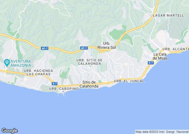Map for Andalusia, Malaga, Sitio de Calahonda