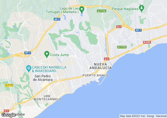 Map for Nueva Andalucia, Marbella, Spain