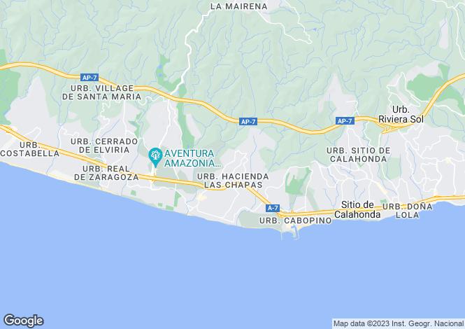 Map for Andalusia, Malaga, Marbella
