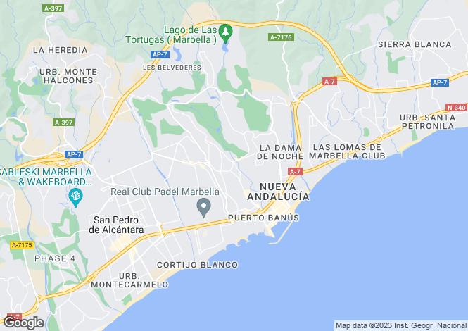 Map for Nueva Andalucia, Malaga, Spain
