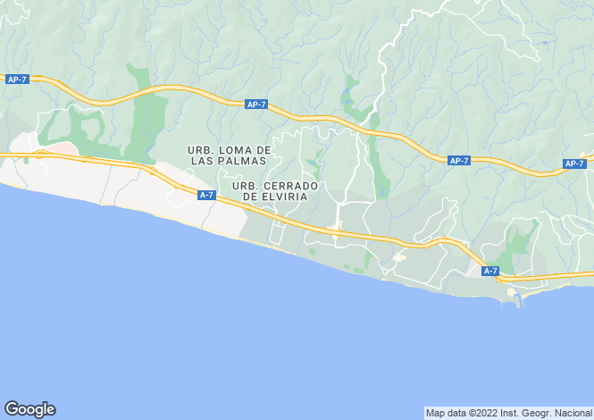 Map for Elviria (Marbella), Málaga, Andalusia