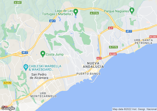 Map for Nueva Andalucia, Malaga (Costa del Sol)