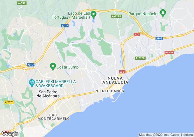 Map for Andalusia, Malaga, Nueva Andalucia