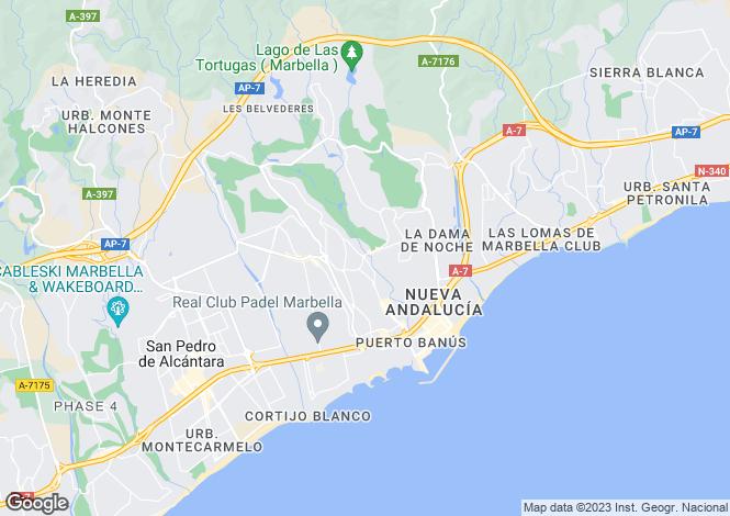 Map for Andalusia, Malaga, Nueva Andalucia
