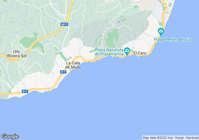 Map for La Cala De Mijas, Malaga, Spain