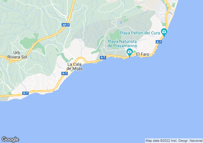 Map for La Cala de Mijas,Mijas,Málaga,Spain