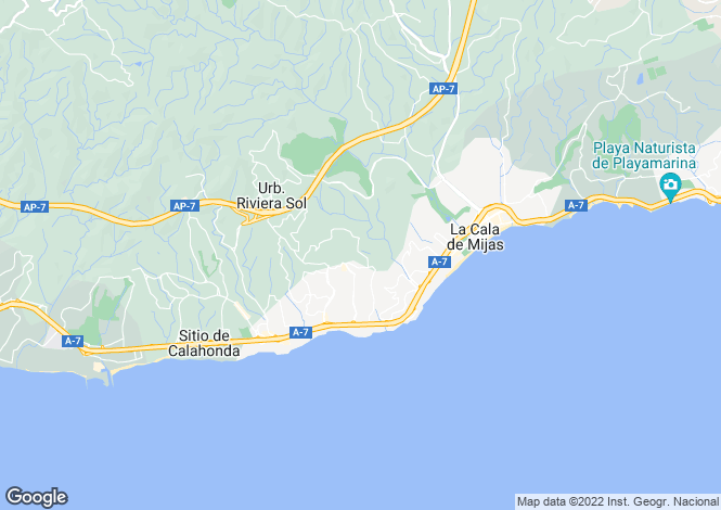 Map for Andalucia, Malaga, Sitio de Calahonda