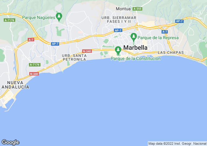 Map for The Golden Mile, Malaga, Spain