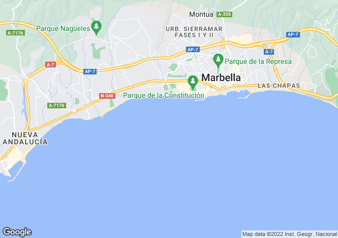 Map for The Golden Mile, The Golden Mile, Malaga, Spain