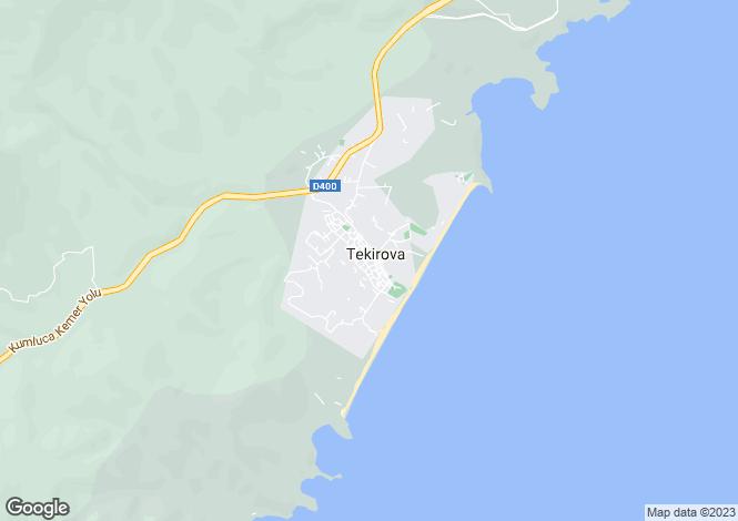 Map for Antalya, Kemer, Tekirova