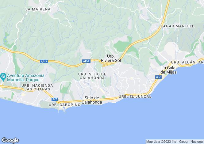 Map for Riviera del Sol, Mijas Costa, Malaga, Spain