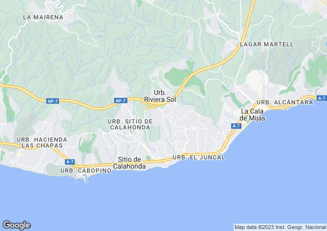 Map for Mijas Costa, Fuengirola, Spain