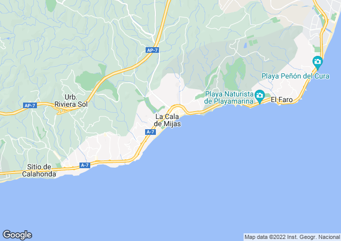 Map for New Luxury Apartments and Penthouse, La Cala de Mijas, Mijas Costa