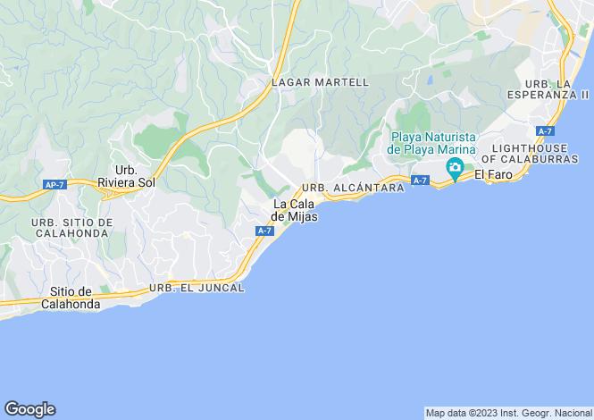 Map for Stunning New Build Apartments, La Cala de Mijas, Marbella