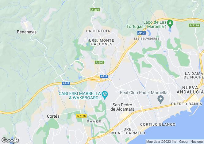 Map for Benahavis, Malaga, Spain