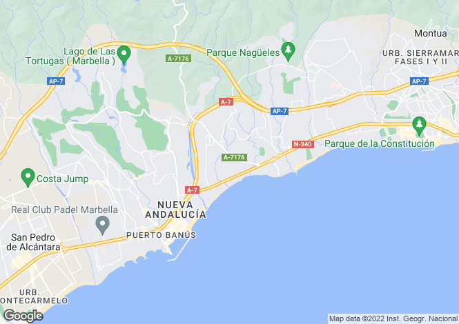Map for Spain - Andalusia, Malaga, The Golden Mile