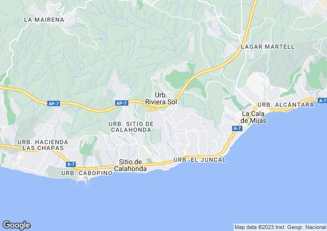 Map for Andalucia, Malaga, Riviera Del Sol
