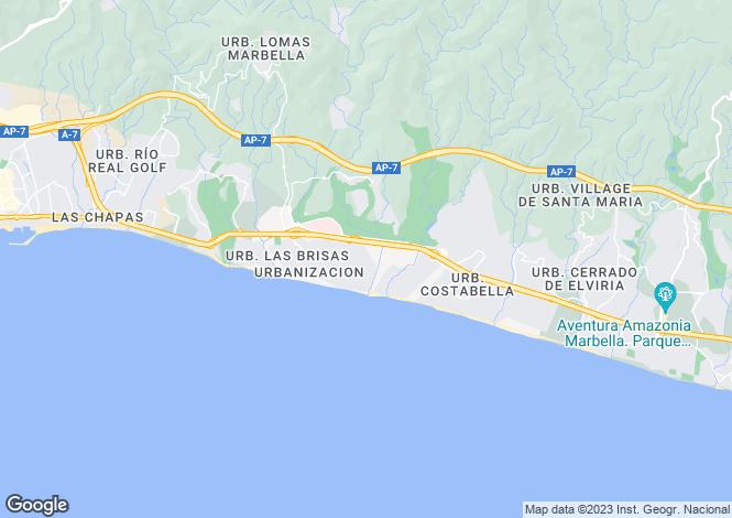 Map for Los Monteros Playa, Marbella East, Malaga, Spain