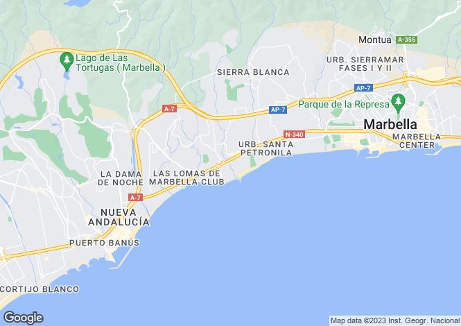 Map for Villa Marina, Puerto Banus, Costa Del Sol, Spain