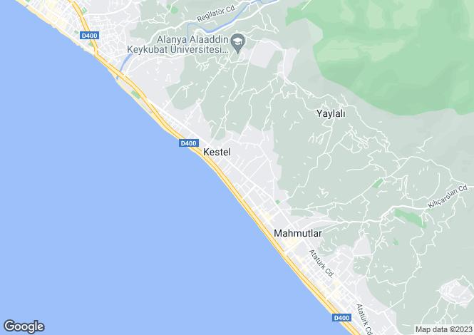 Map for Antalya, Alanya, Kestel