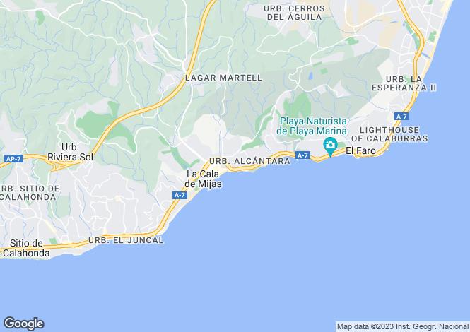 Map for Andalusia, Malaga, La Cala