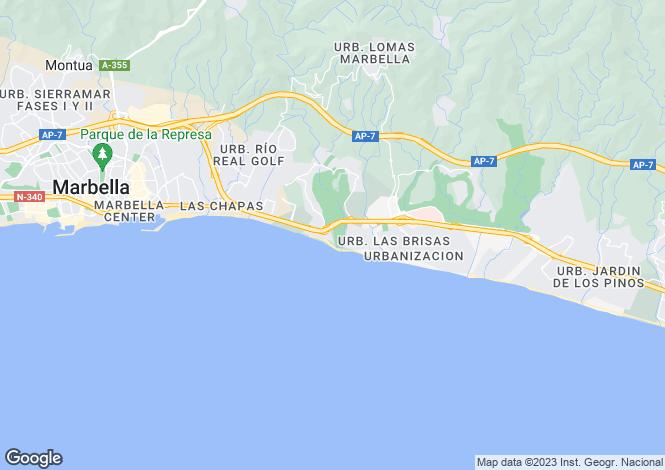 Map for Rio Real, Marbella East, Malaga, Spain