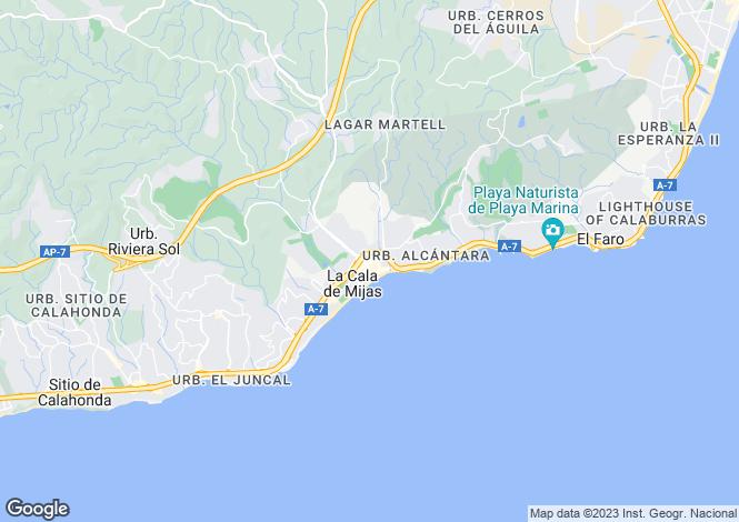 Map for Mijas-Costa, Málaga, Andalusia