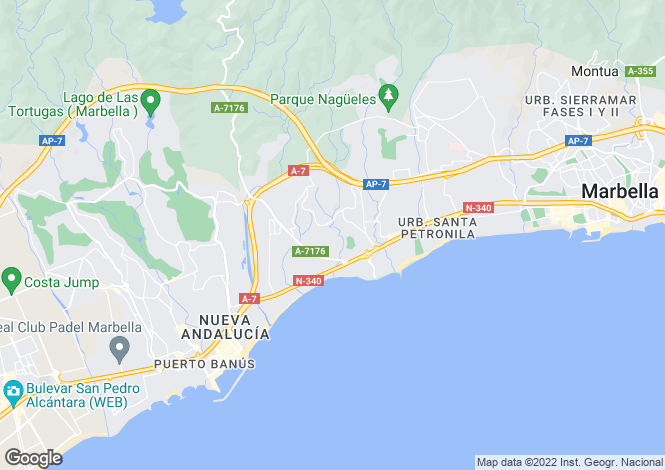 Map for Andalusia, Málaga, The Golden Mile