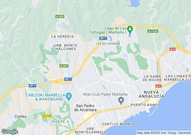 Map for Spain - Andalusia, Malaga, Nueva Andalucia