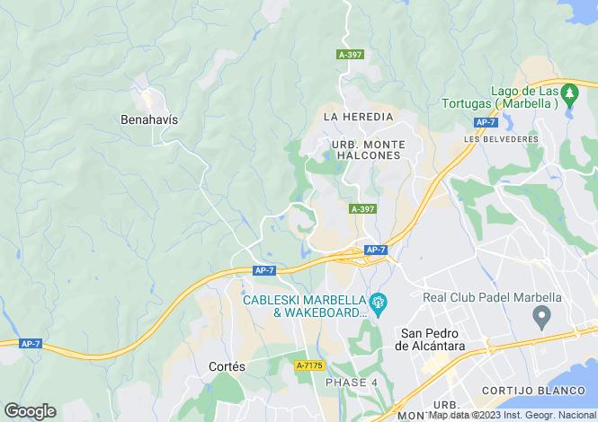 Map for Benahavis, Marbella-Estepona, Spain