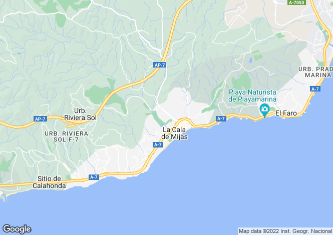 Map for La Cala De Mijas, Málaga, Andalusia