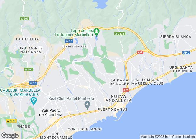 Map for Spain - Andalucia, Malaga, Nueva Andalucia