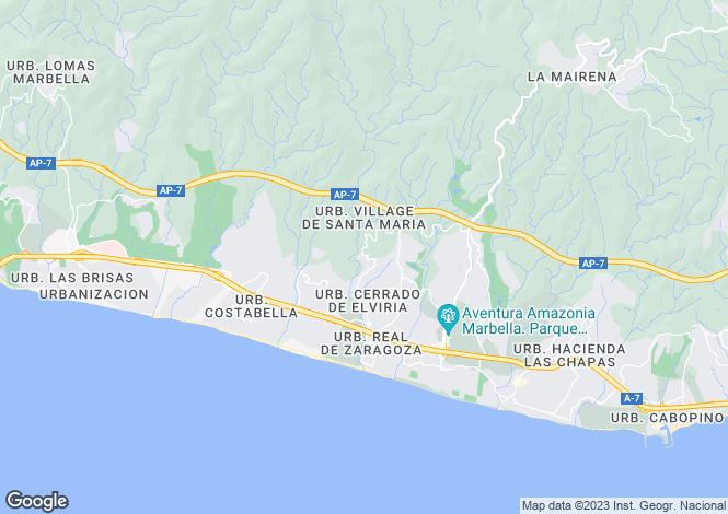 Map for Elviria (Marbella), Málaga, Andalusia