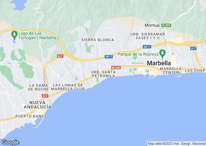 Map for Marbella Club, Marbella Golden Mile, Malaga, Spain