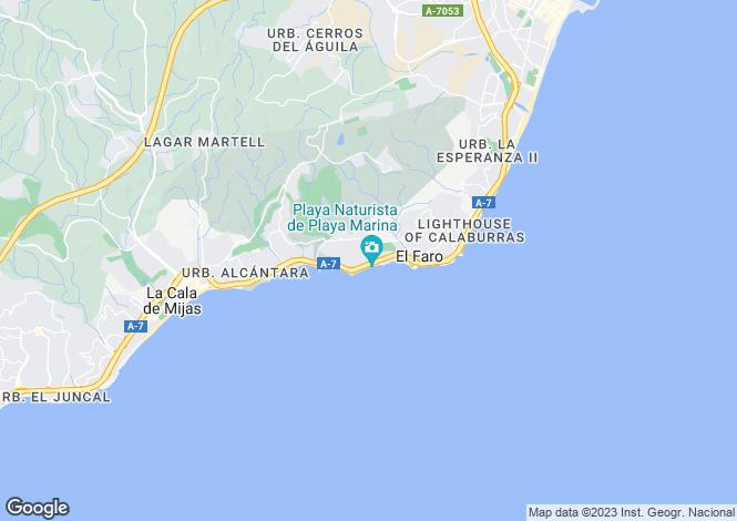 Map for Spain - Andalusia, Malaga, Mijas-Costa